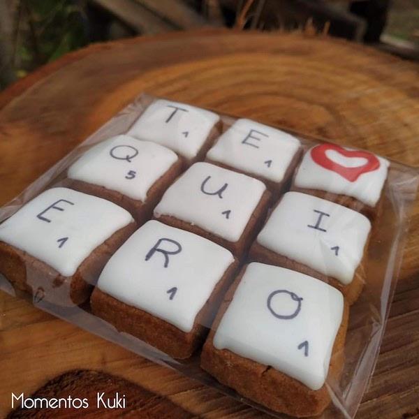 lote especial regalo de galletas para San Valentin apalabrados